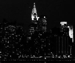 new york, city, and night image