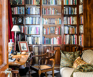 books, library, and room image