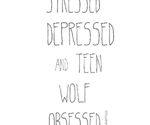 teen wolf, depressed, and stressed image