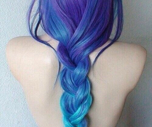 blue, color hair, and violet image