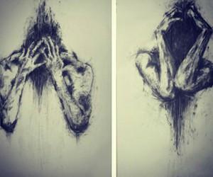 black&white, feelings, and people image
