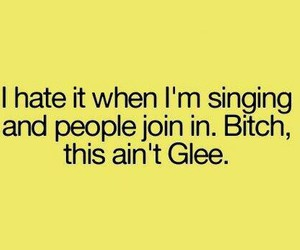 glee, funny, and singing image
