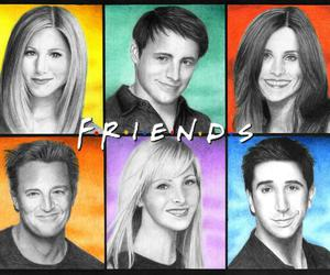 drawing, tv show, and friends image