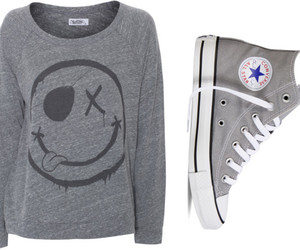 converse, fashion, and grey image
