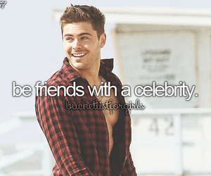 bucket list and celebrity image