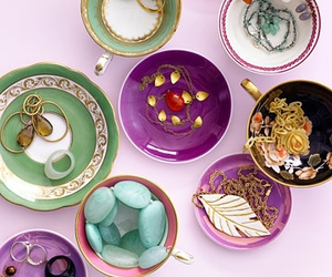 decor, teacups, and jewelry image