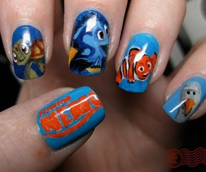 dory, finding nemo, and nails image