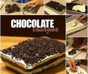 chocolate, lasagna, and delicious image