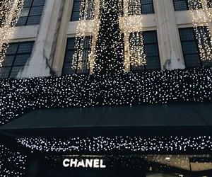 chanel, light, and christmas image