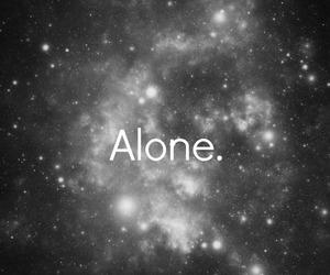 alone, black, and galaxy image