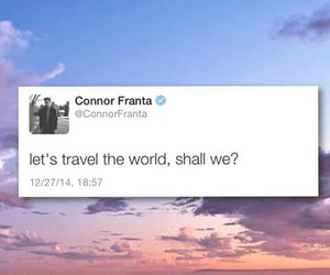 connor franta, travel, and twitter image