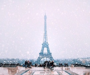 beauty, winter, and love image
