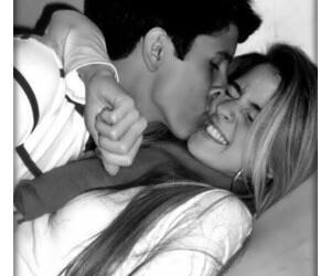 boy, girlfriend, and hug image