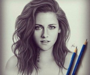 kristen stewart, drawing, and art image