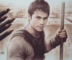 dylan o'brien, the maze runner, and drawing image