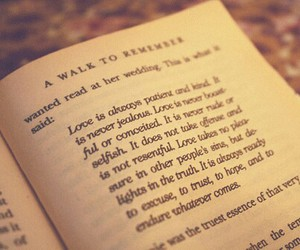 A Walk to Remember, love, and nicholas sparks image