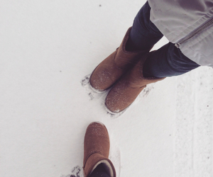 shoes, uggs, and snow image
