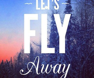 fly, snow, and wallpapers image