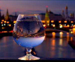city, light, and glass image