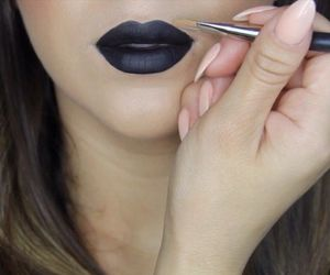 black, cool, and lips image