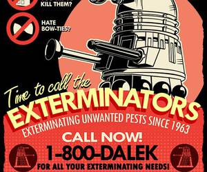 doctor who, Dalek, and exterminate image