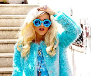 blonde, fashion, and blue image
