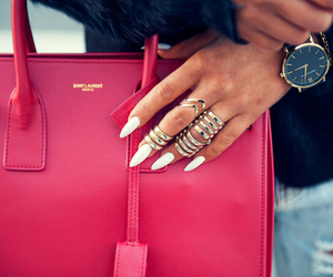 fashion, bag, and nails image