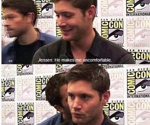 supernatural, misha collins, and Jensen Ackles image