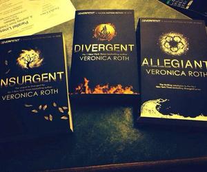 insurgent, allegiant, and divergent image