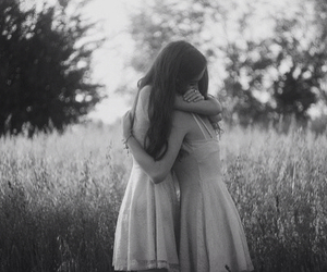 black and white, love, and best friends image