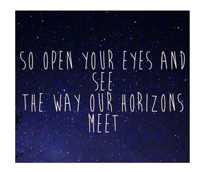 horizons, quote, and all of the stars image