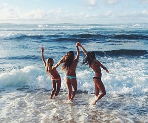beach, friends, and perfect image