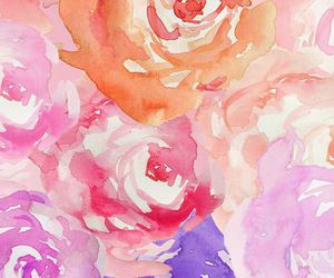 flowers, roses, and painted image