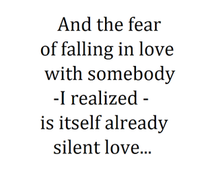 love, quote, and fear image