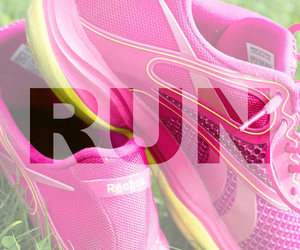 run, fitness, and pink image