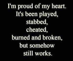 heart, quote, and broken image