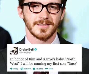 drake bell, taco bell, and funny image