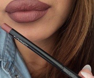 mac, lips, and makeup image