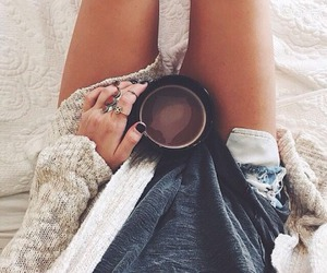 coffee, cozy, and sweater image