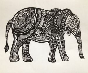 art and elephant image