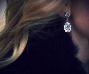 earrings, diamond, and hair image