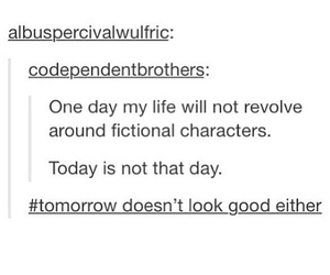 my life and fictional characters image