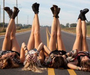 friends, road, and bff image