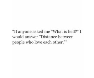 love, distance, and quotes image