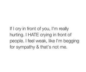 cry, hate, and quote image