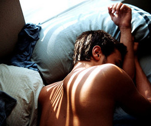 bed, photography, and sleep image