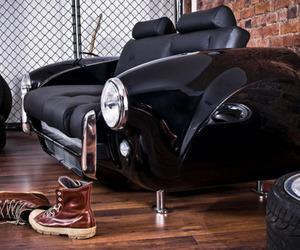 car, black, and interior image
