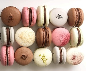 food, french, and macaroon image