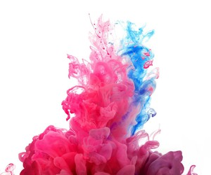 explosion, paint, and pink-blue image