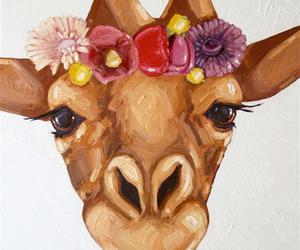 giraffe flower crown image